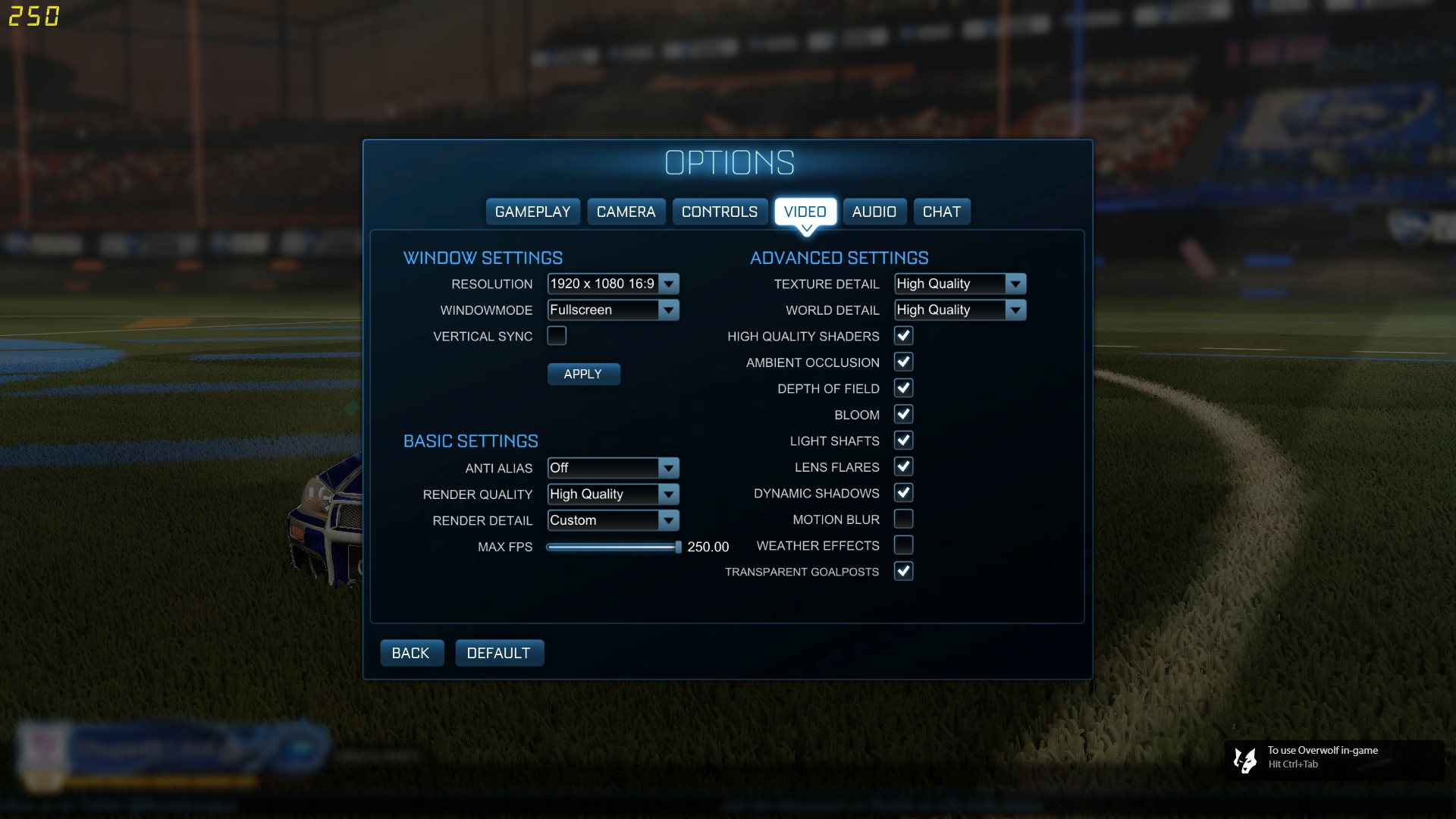 Rocket Camera : Rocket league pro camera settings controller and fps guide