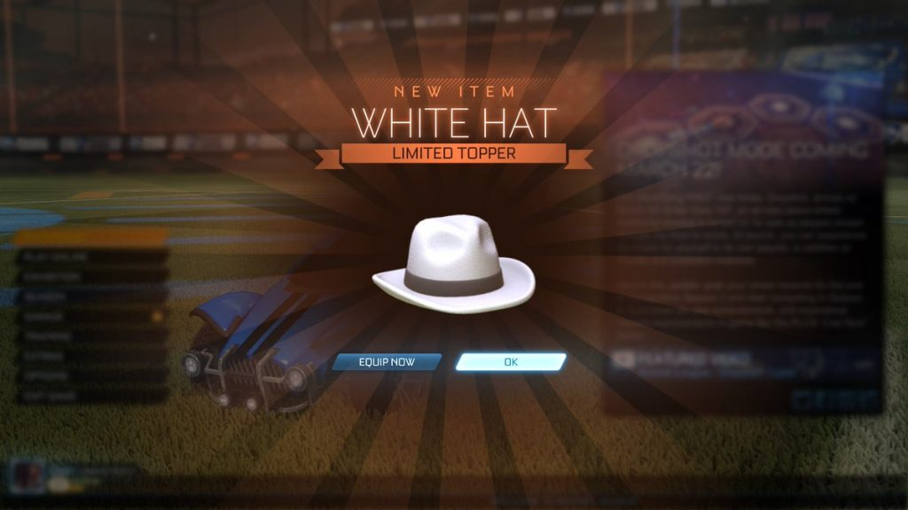 Rocket League White Hat Value